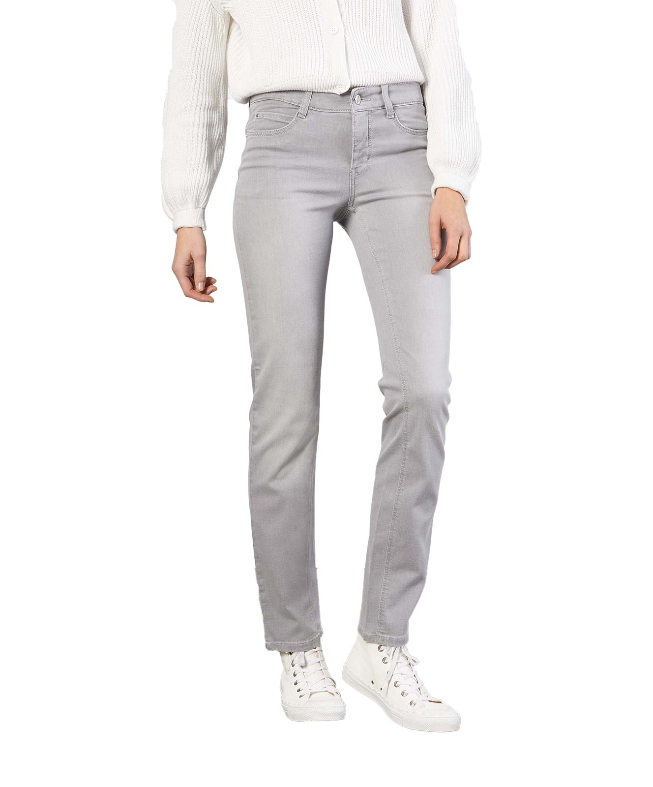 Hosen - MAC Straight Leg Jeans Dream in Silver Grey Used  - Onlineshop Jeans Meile
