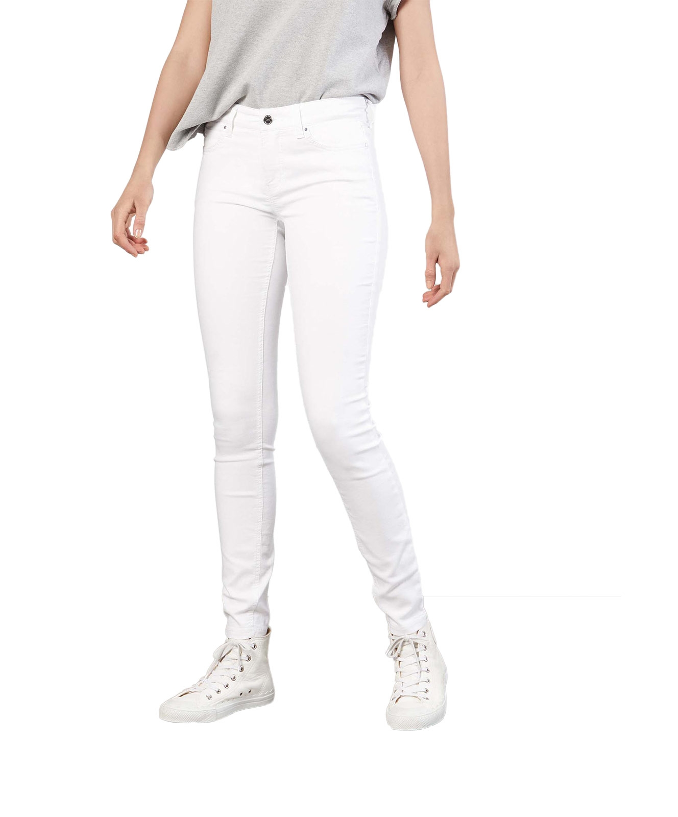 Hosen - MAC Jeans Röhre Dream Skinny in White Denim  - Onlineshop Jeans Meile