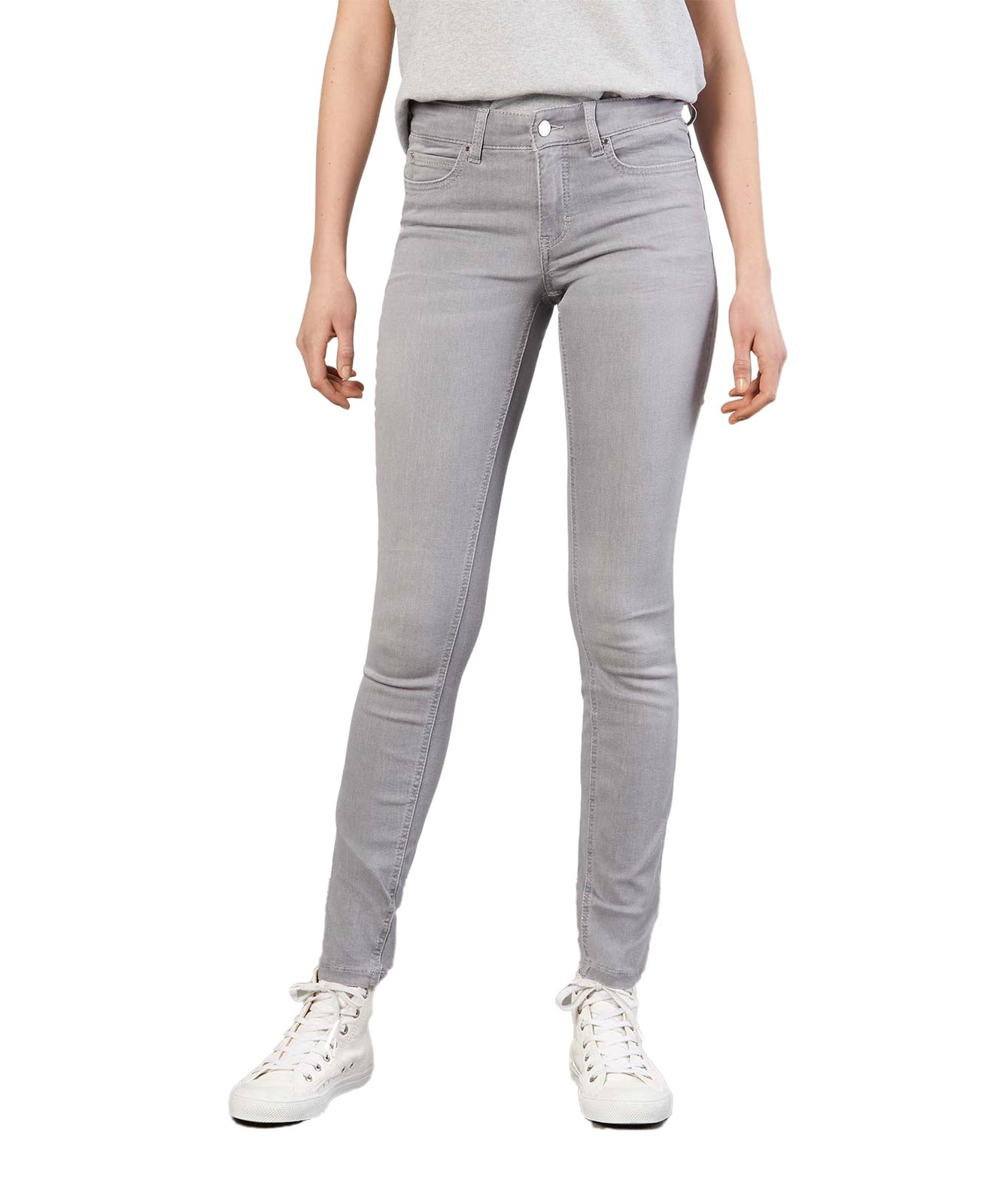 Hosen - MAC Jeans Röhre Dream Skinny in Upcoming Grey Wash  - Onlineshop Jeans Meile