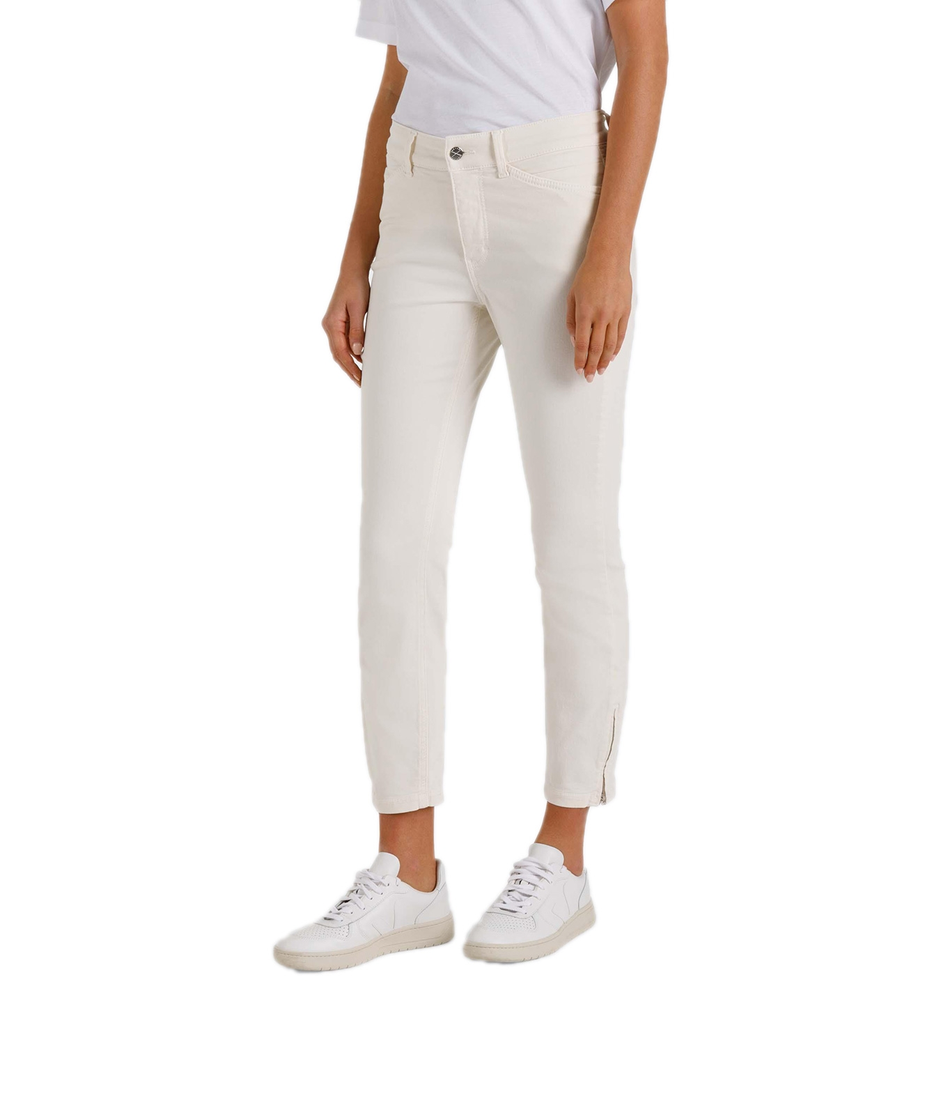 Hosen - MAC Ankle Jeans Dream Chic in Marshmallow  - Onlineshop Jeans Meile