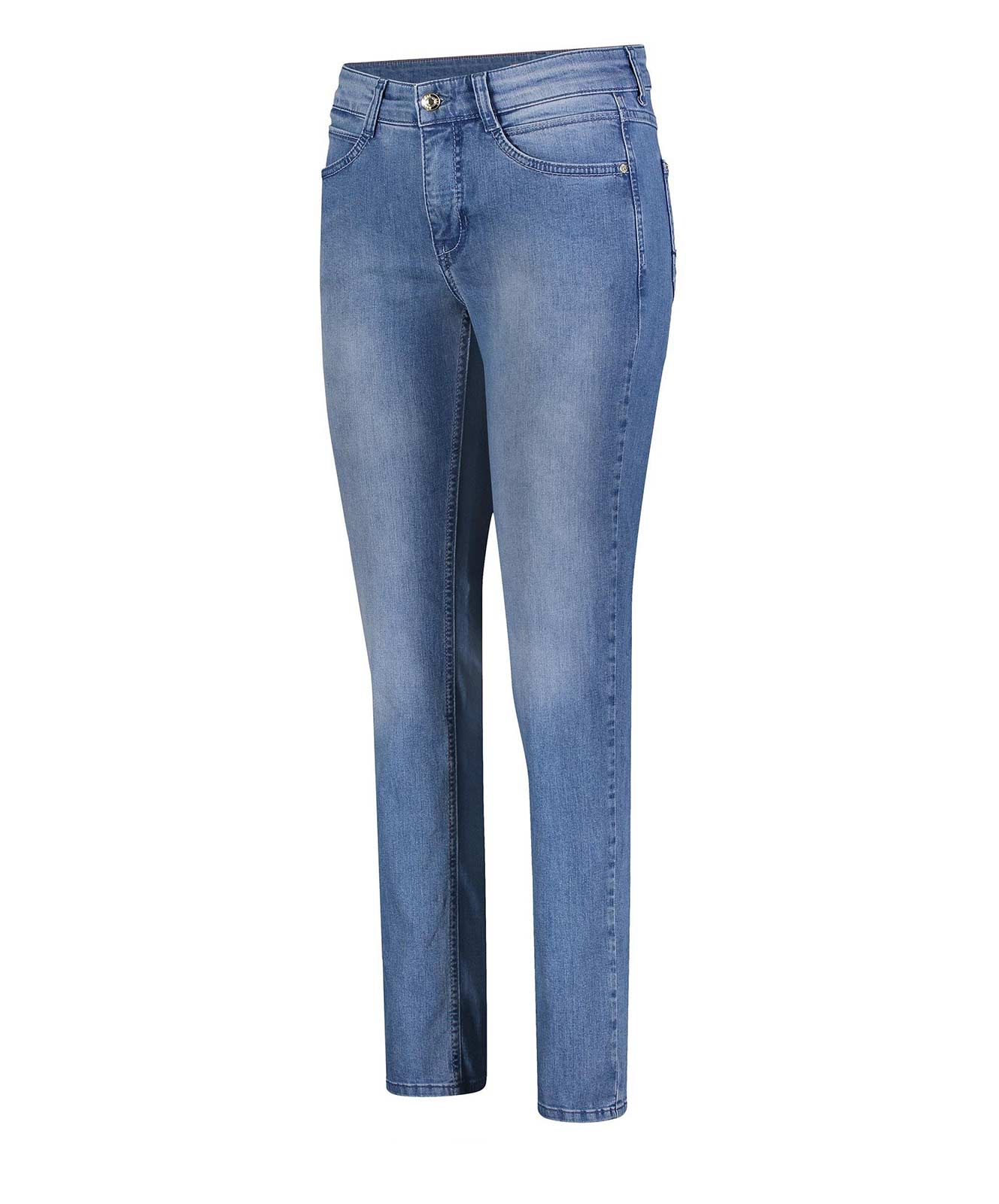 Hosen - MAC Mom Jeans Angela in Clean Light Blue Wash  - Onlineshop Jeans Meile
