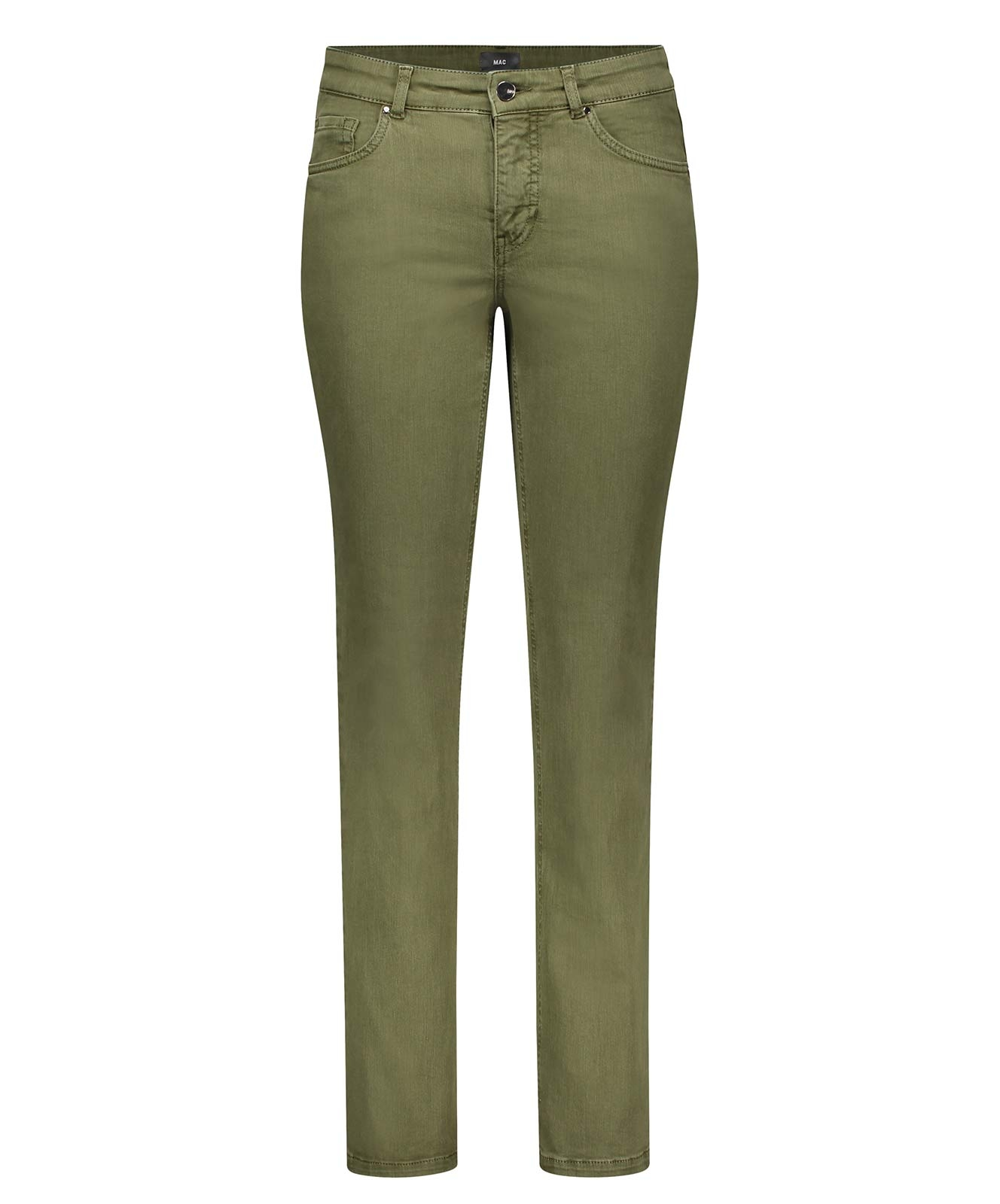 Hosen - MAC Straight Leg Jeans Melanie in Military Green  - Onlineshop Jeans Meile