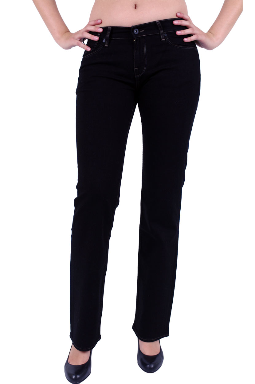 Hosen - Mustang Slim Fit Jeans Girls Oregon in Midnight Black  - Onlineshop Jeans Meile