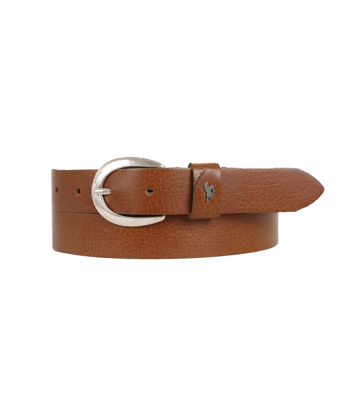 Guertel - Mustang Taillengürtel Damen 2,5cm Softledergürtel in Cognac  - Onlineshop Jeans Meile