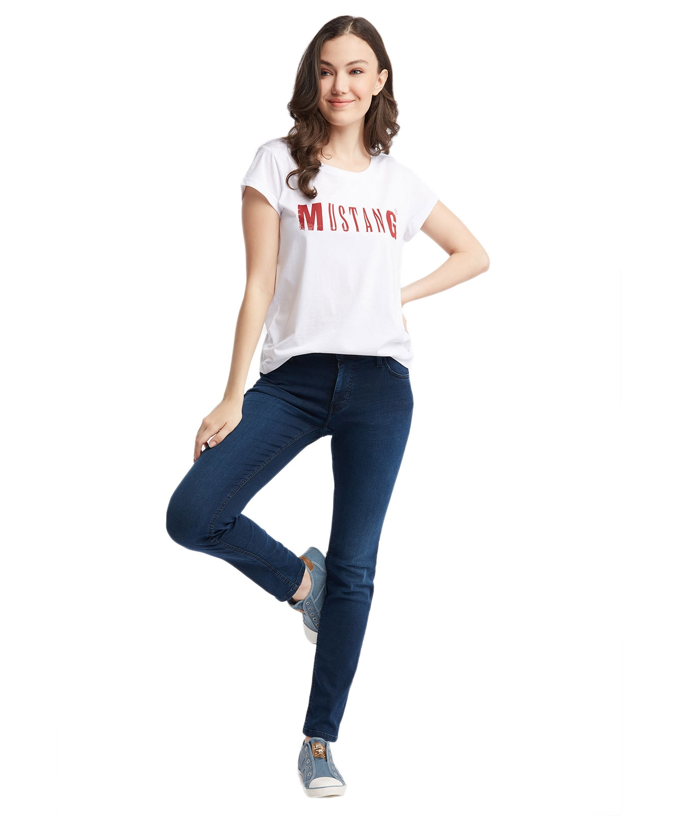 Hosen - Mustang Slim Fit Jeans Sissy Slim in Stone Washed  - Onlineshop Jeans Meile