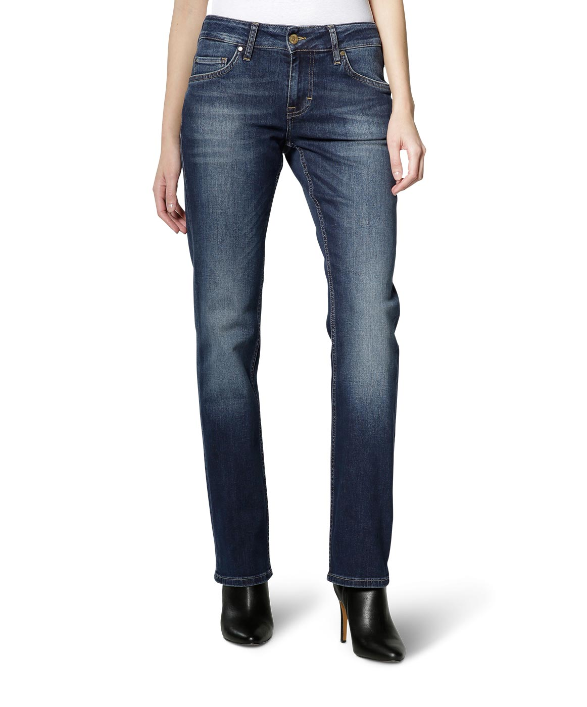 Hosen - Mustang Straight Leg Jeans Sissy Straight in Dark Scratched Used  - Onlineshop Jeans Meile