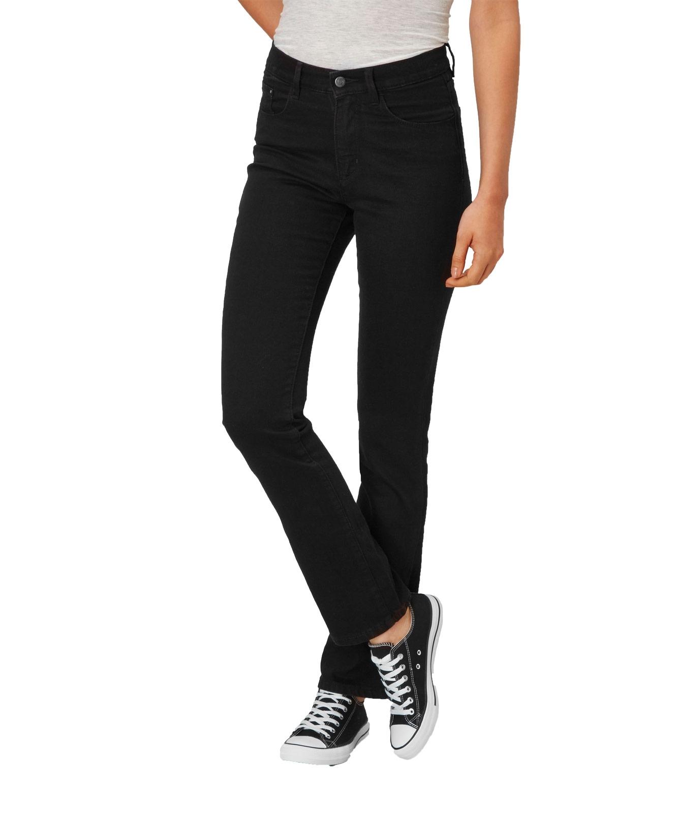 Hosen - Paddocks Straight Leg Jeans Kate in Black Black  - Onlineshop Jeans Meile