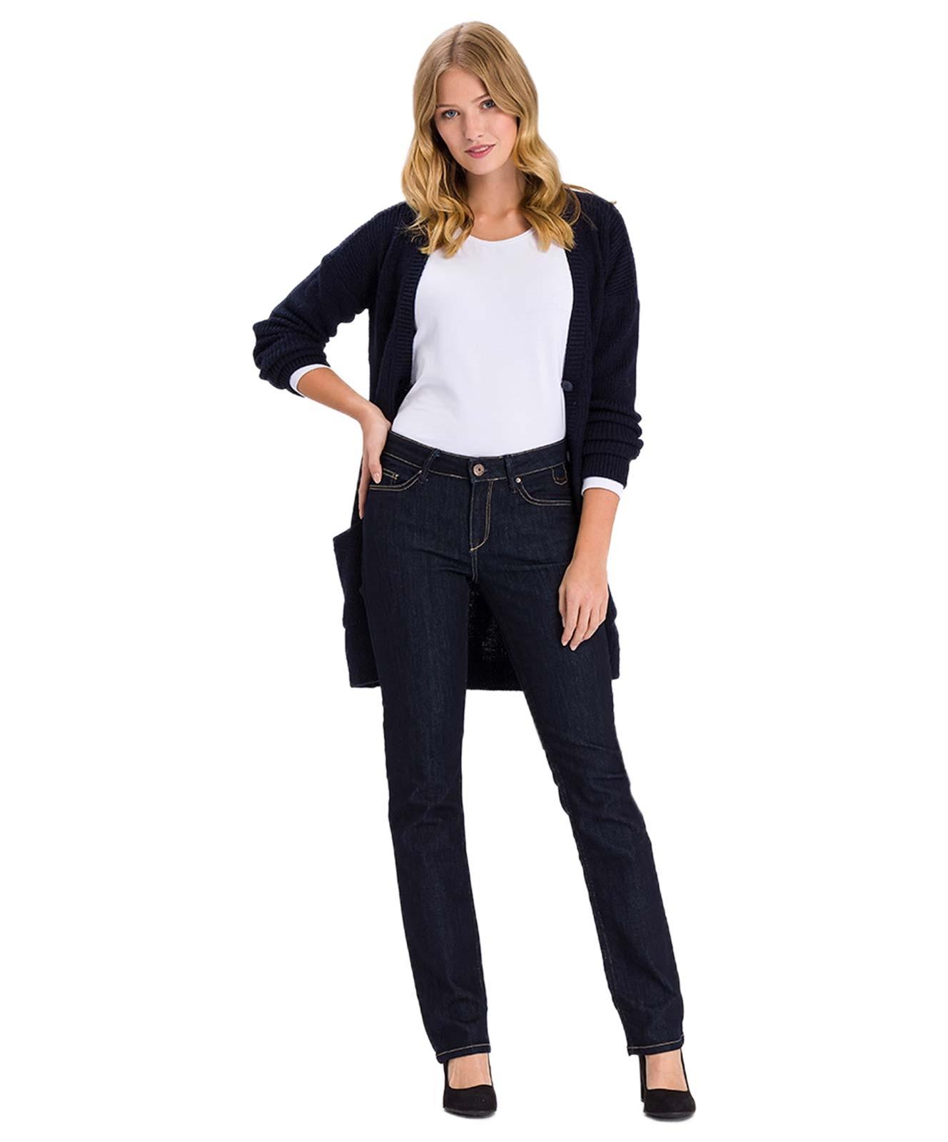 Hosen - Cross Straight Leg Jeans Rose in Deep Blue  - Onlineshop Jeans Meile
