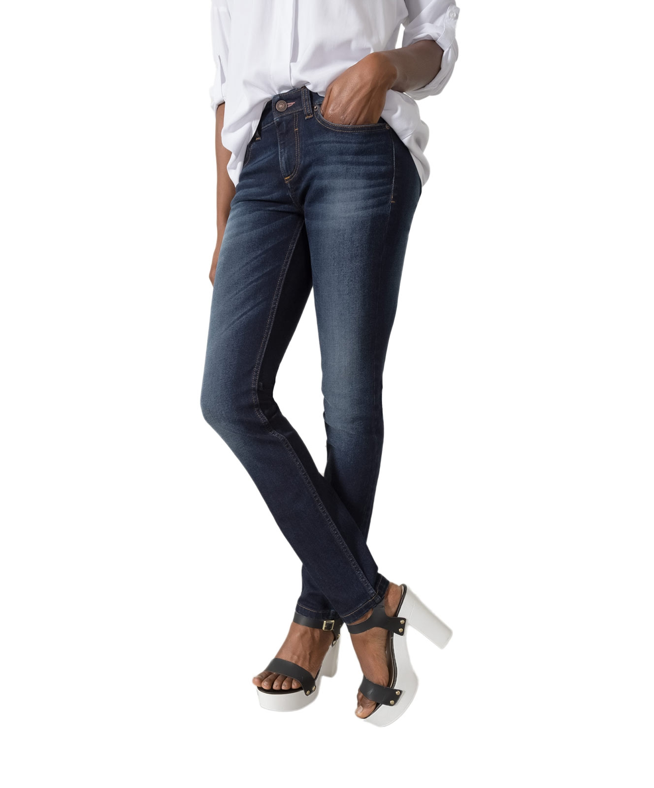 Hosen für Frauen - HIS MONROE Jeans Skinny Fit Advanced Dark Blue  - Onlineshop Jeans Meile