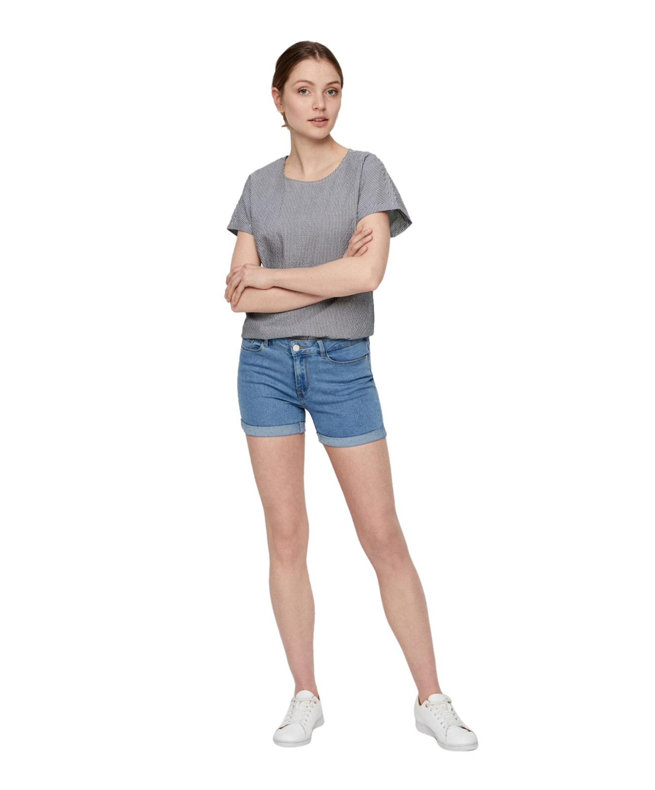 Hosen - Vero Moda Jeans Shorts Hot Seven in Light Blue Denim  - Onlineshop Jeans Meile