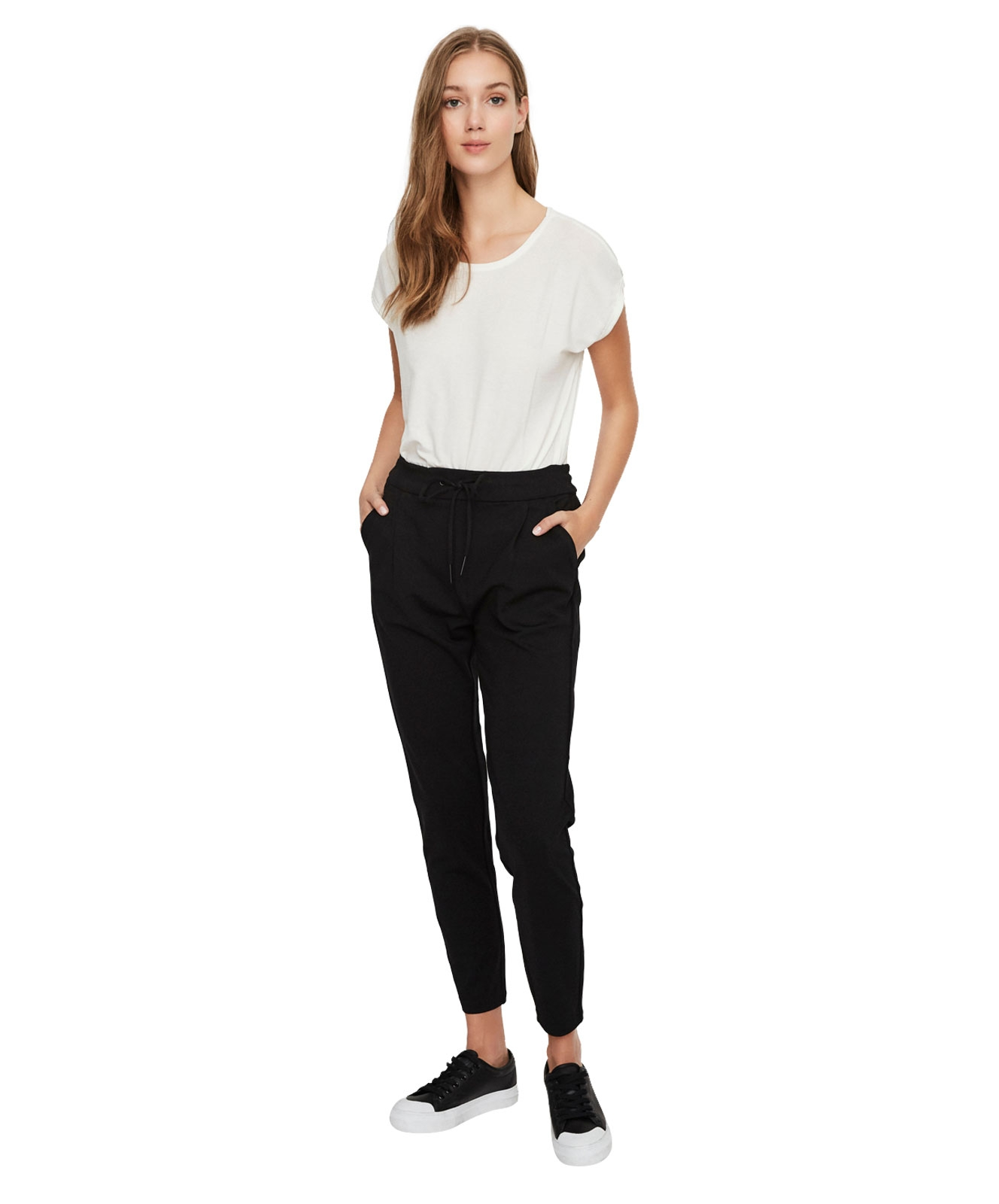 Hosen - Vero Moda Stoffhose EVA in Black  - Onlineshop Jeans Meile