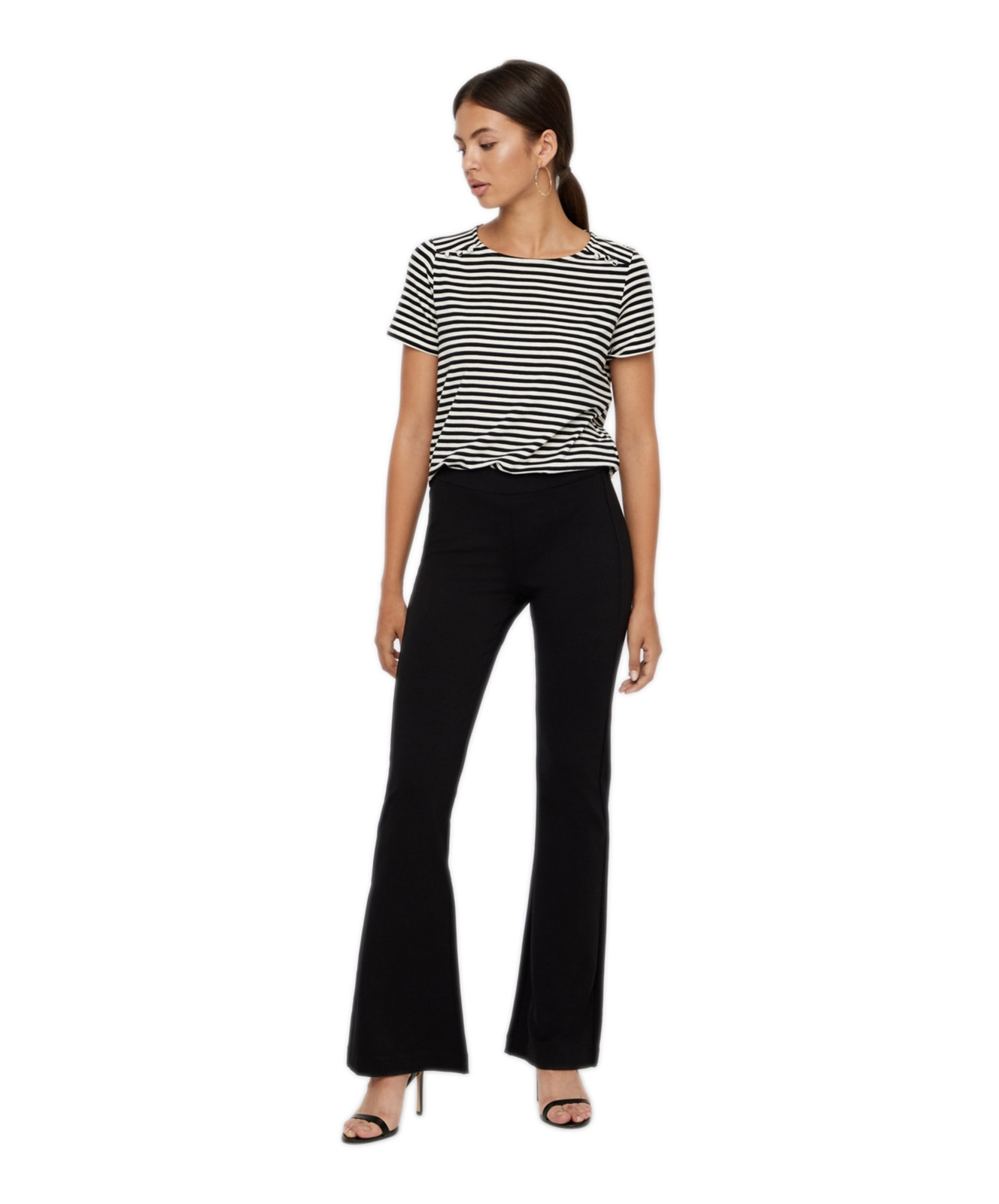 Hosen - Vero Moda Stoffhose Kamma in Black  - Onlineshop Jeans Meile