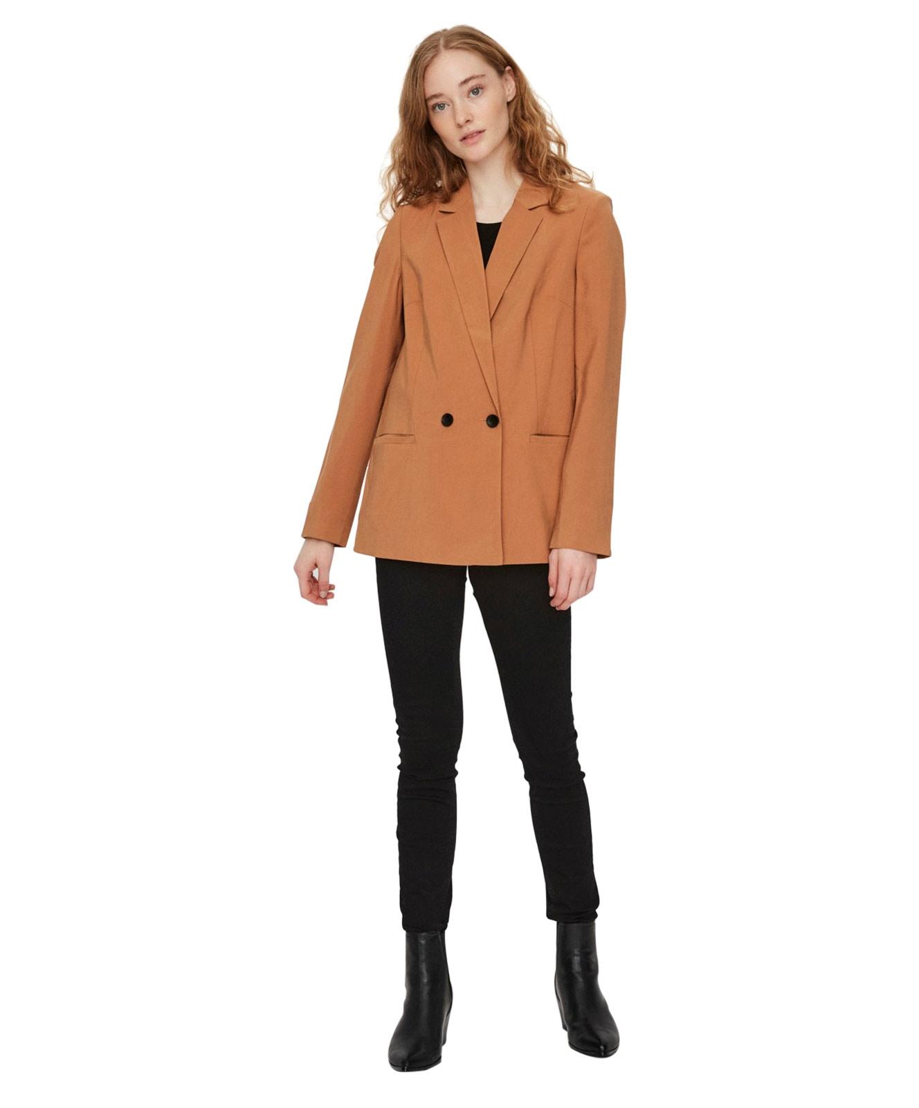 Jacken - Vero Moda Blazer Regular Fit Longblazer in Meerkat  - Onlineshop Jeans Meile