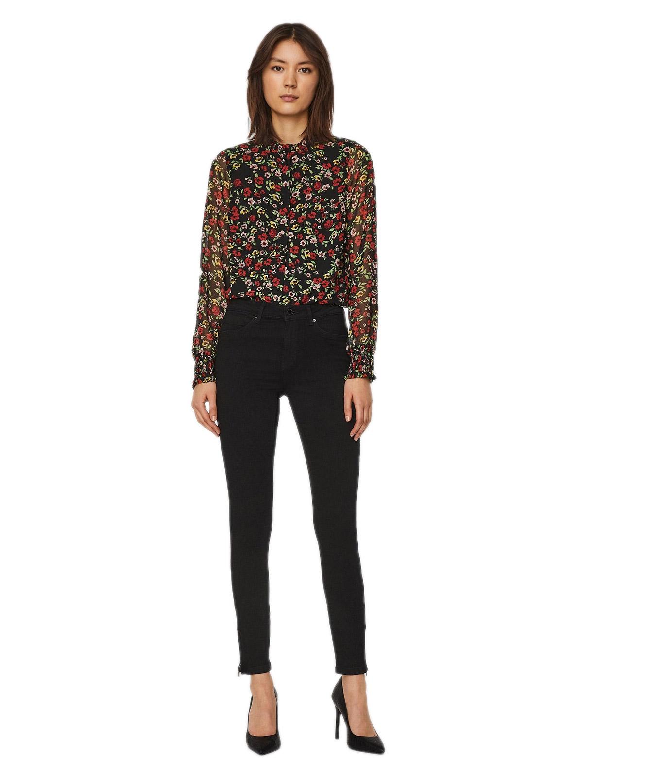 Hosen - Vero Moda Skinny Jeans Tilde in Dark Blue Denim  - Onlineshop Jeans Meile