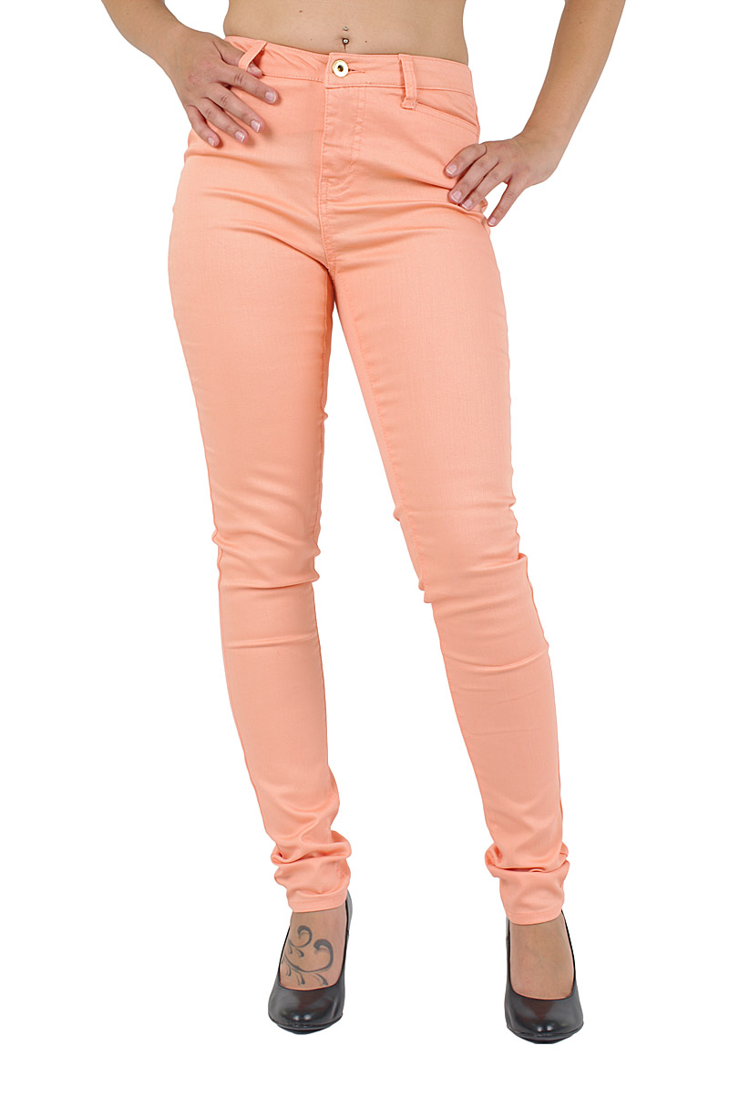 Hosen - Vero Moda Slim Fit Jeans Wonder in Papaya Punch  - Onlineshop Jeans Meile