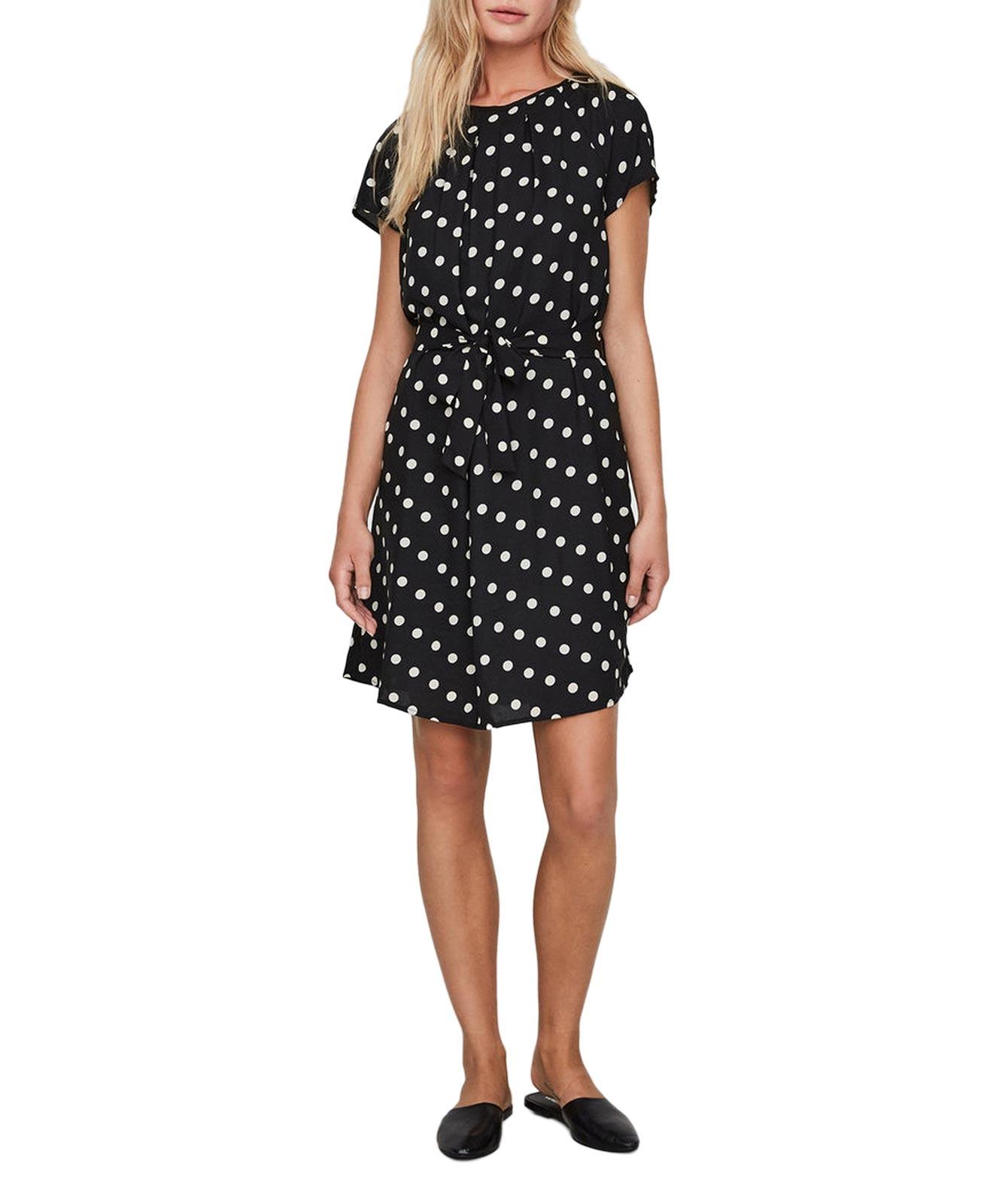 NELLI - Kurzes Kleid - Schwarz Dots