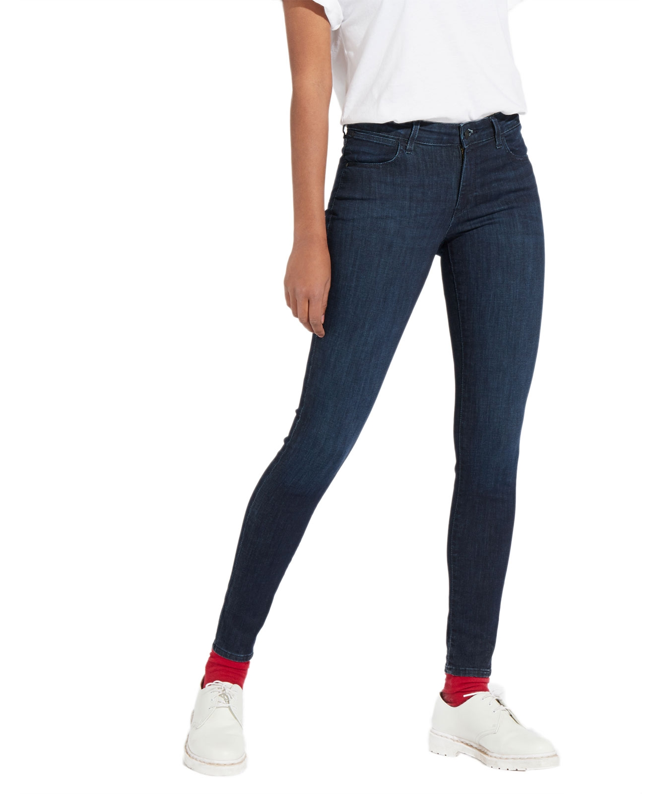 Hosen für Frauen - Wrangler Damen Jeans Skinny in Tainted Blue  - Onlineshop Jeans Meile