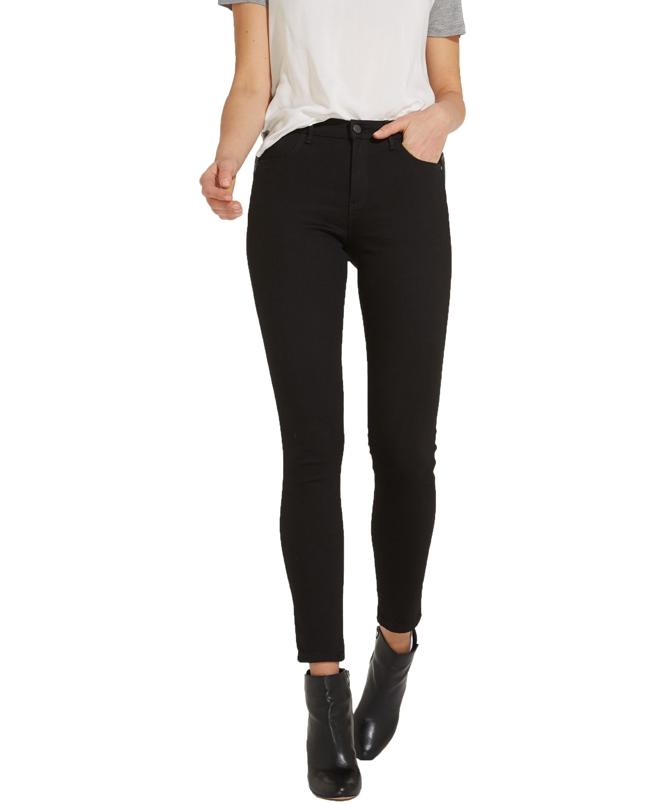 Hosen für Frauen - WRANGLER HIGH RISE SKINNY Jeans Rinsewash  - Onlineshop Jeans Meile