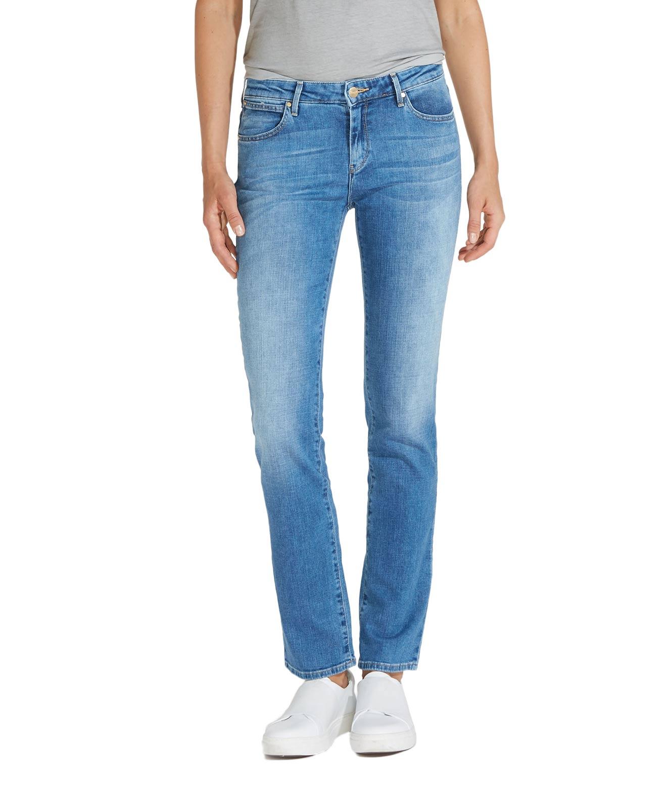 Hosen für Frauen - WRANGLER STRAIGHT Jeans Body Bespoke Best Blue  - Onlineshop Jeans Meile