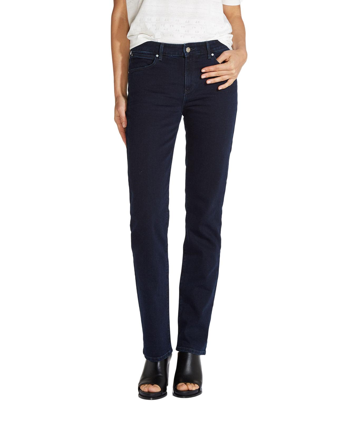 Hosen für Frauen - WRANGLER STRAIGHT Jeans Body Bespoke Blue Black  - Onlineshop Jeans Meile