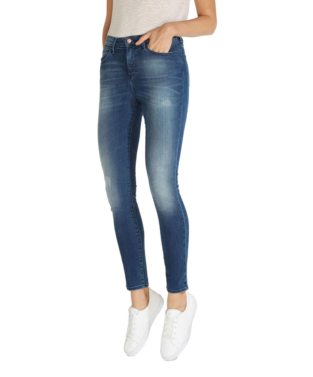 Hosen für Frauen - WRANGLER HIGH RISE SKINNY Jeans Vintage Blue  - Onlineshop Jeans Meile