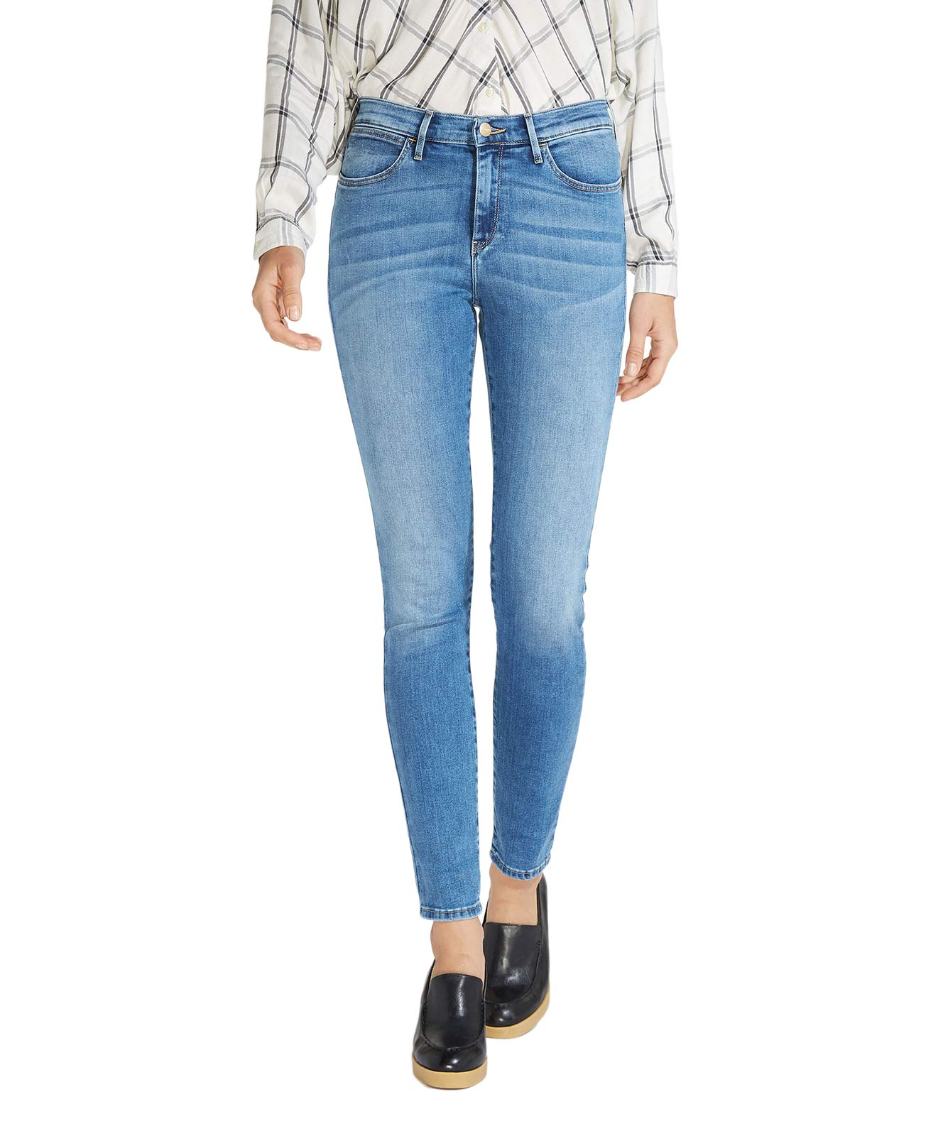 Hosen für Frauen - WRANGLER HIGH RISE SKINNY Jeans Best Blue  - Onlineshop Jeans Meile