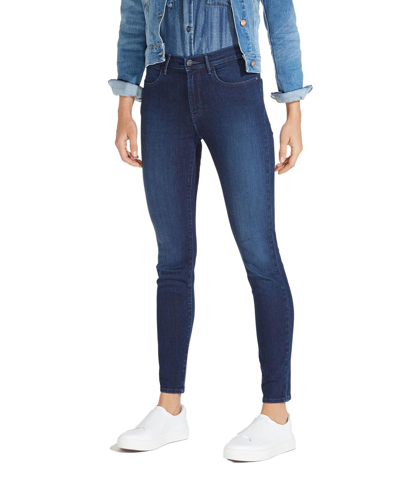 Hosen für Frauen - WRANGLER HIGH RISE SKINNY Jeans Subtle Blue  - Onlineshop Jeans Meile