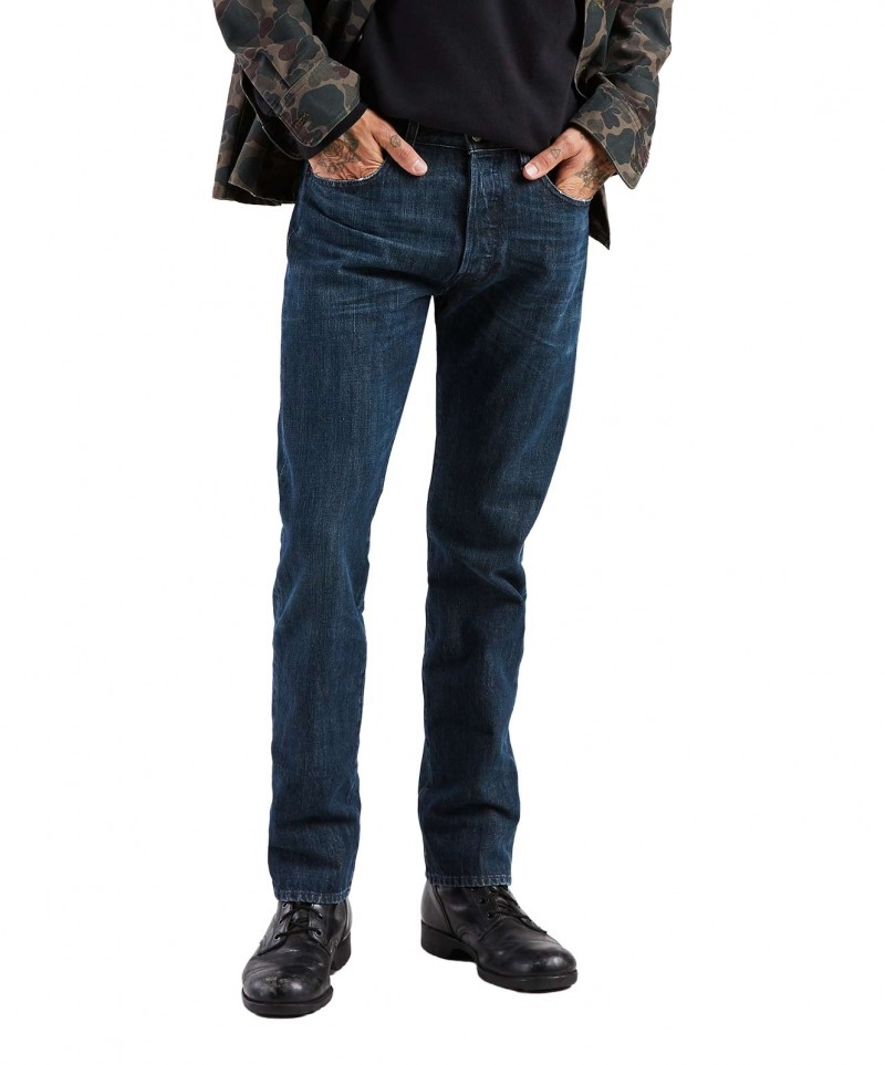 Levi's 501 Jeans in dunkelblauer Snoot Waschung