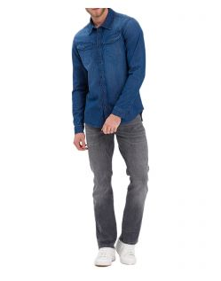 CROSS Dylan - graue Regular-Fit-Jeans mit geradem Beinverlauf - Vorne