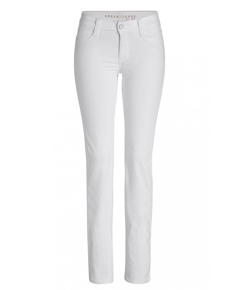 MAC DREAM - Jeans Straight Leg - White Denim