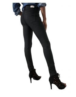 HIS LORRAINE - Super Skinny Jeans - Pure Black Wash - Hinten
