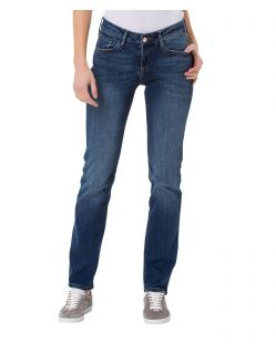 CROSS Jeans Rose - Straight Leg - Blue Used Crincle