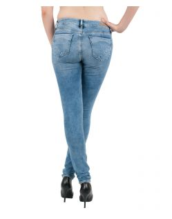 MAVI Jeans ADRIANA - Super Skinny - Light Indigo Glam - Hinten
