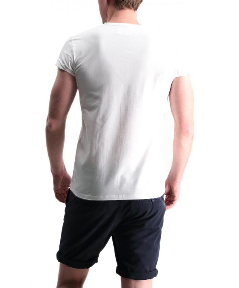 Garcia Jeans Remco - Weißes T-Shirt mit V-Ausschnitt