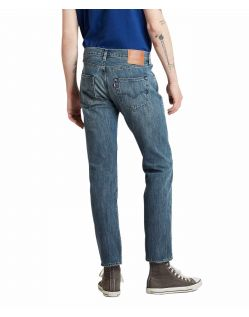 Levi's 501 Herren Straight Jeans in heller Indigo Waschung - f02