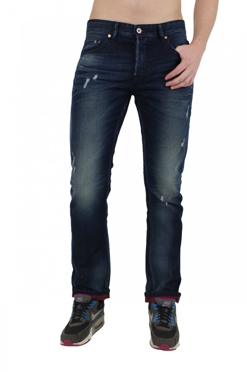 Fuga Adam Jeans - Straight Leg - Blue Red v