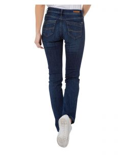 CROSS Anya - High Waisted Jeans - Dark Used - Hinten
