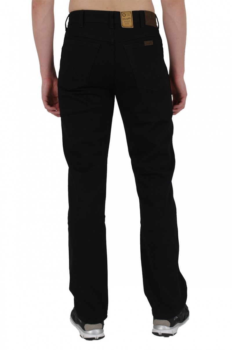 Wrangler Regular Fit Jeans - Schwarz