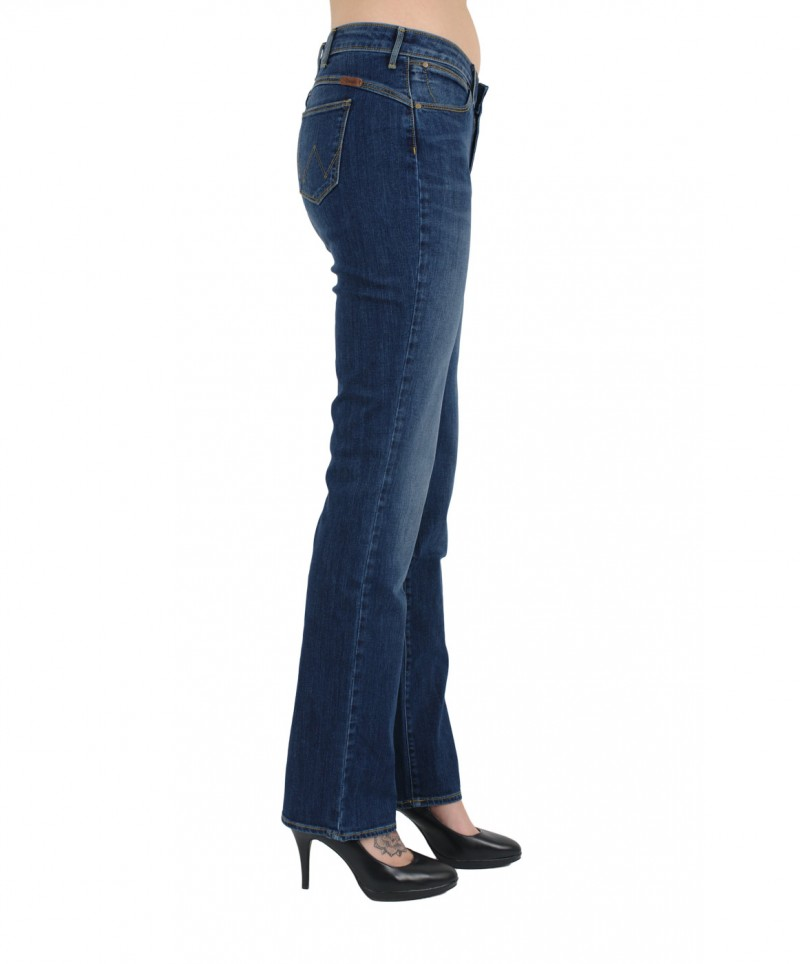 WRANGLER SARA NARROW Jeans - Navy Sea