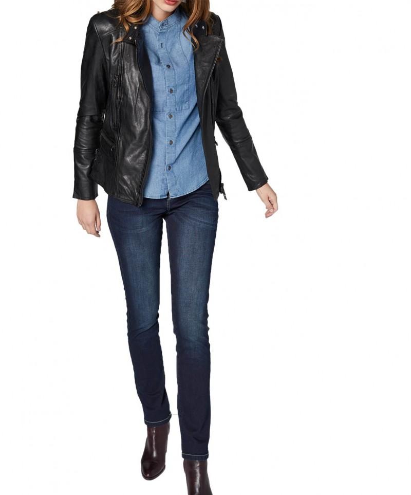 Colorado Layla - High Waist Jeans - Dark Blue Used - Vorne