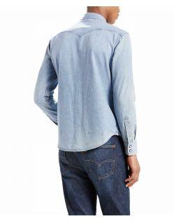 Levis Barstow - Denim Westernhemd in hellblau - Hinten