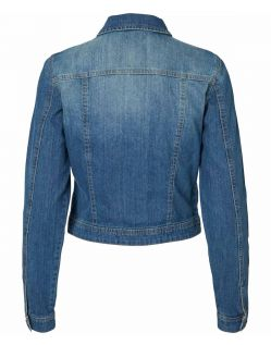 Vero Moda Danger - Jeansjacke - Medium Blue - Hinten
