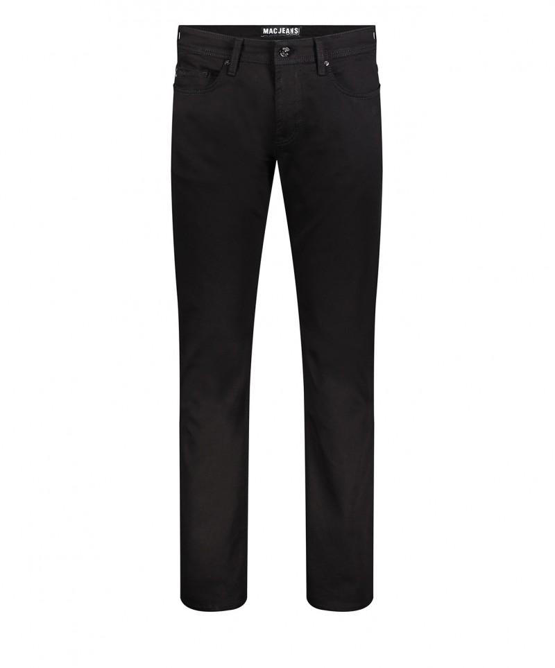 Mac Jeans Ben - schwarze Regular Fit Hose im Used-Look