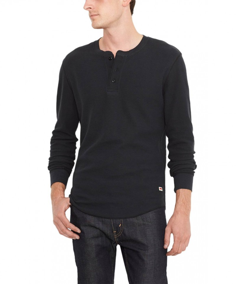 Levis Shirt Henley - Slim Fit - Jet Black