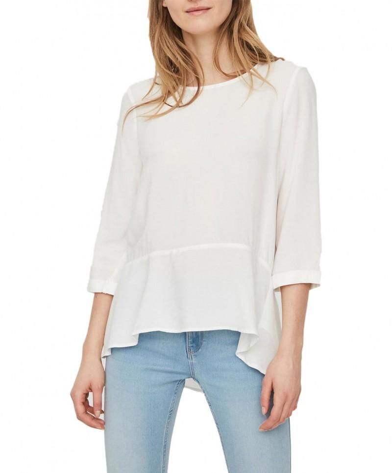 Vero Moda Frill - Weiße Bluse mit Rüschensaum