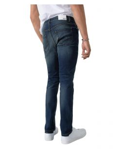 HIS CLIFF - Slim Fit Jeans - Pure Dark Blue Wash - Hinten