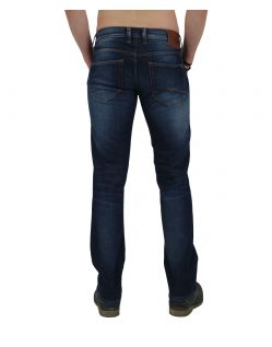 MUSTANG OREGON STRAIGHT Jeans - Slim Fit - Dark Rinse Used - Hinten