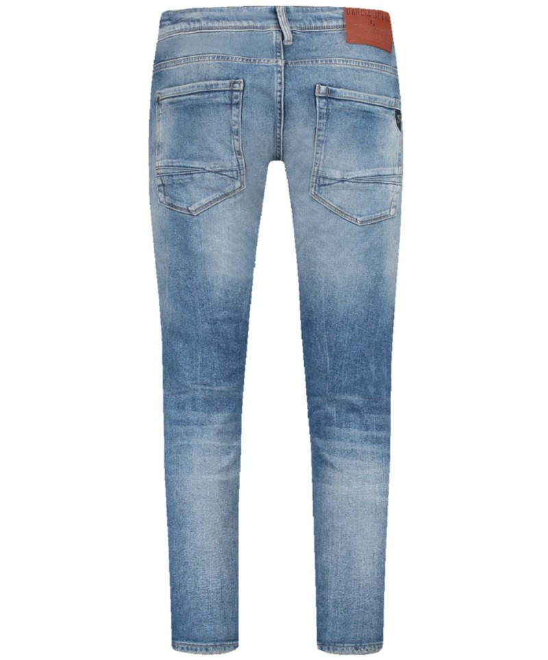 Garcia Russo - Mittelblaue Straight-Fit Jeans