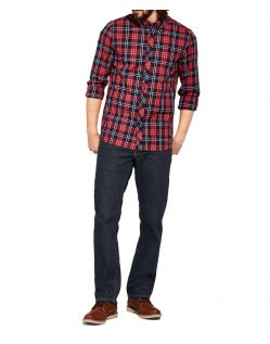Mustang Oregon Straight Jeans in dunkler Rinse-Waschung