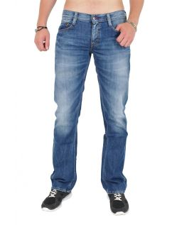 MUSTANG OREGON STRAIGHT Jeans - Slim Fit -  Light Scratched Used c159